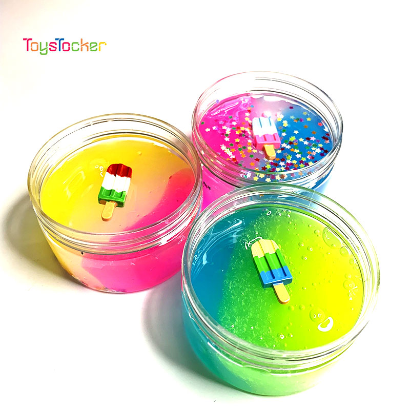 A Variety Of Color DIY Slime With Sequins And Ice Cream Accessories Antistress Toys Supplies For Children Gift