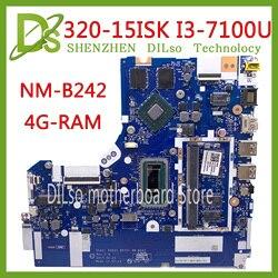 KEFU NM B242 płyta główna dla Lenovo 320 15ISK 520 15ISK płyta główna DG421 GD521 DG721 NM B242 I3 7100U GT940MX 100% test oryginalny|Płyty główne do laptopów|Komputer i biuro -