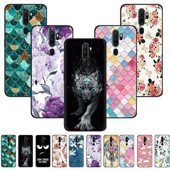 Перейти на Алиэкспресс и купить Противоударный чехол для телефона OPPO A9 2020/A11/A5 2020, цветной чехол для телефона с окрашенной задней стенкой, модный дизайн из силикона и ТПУ