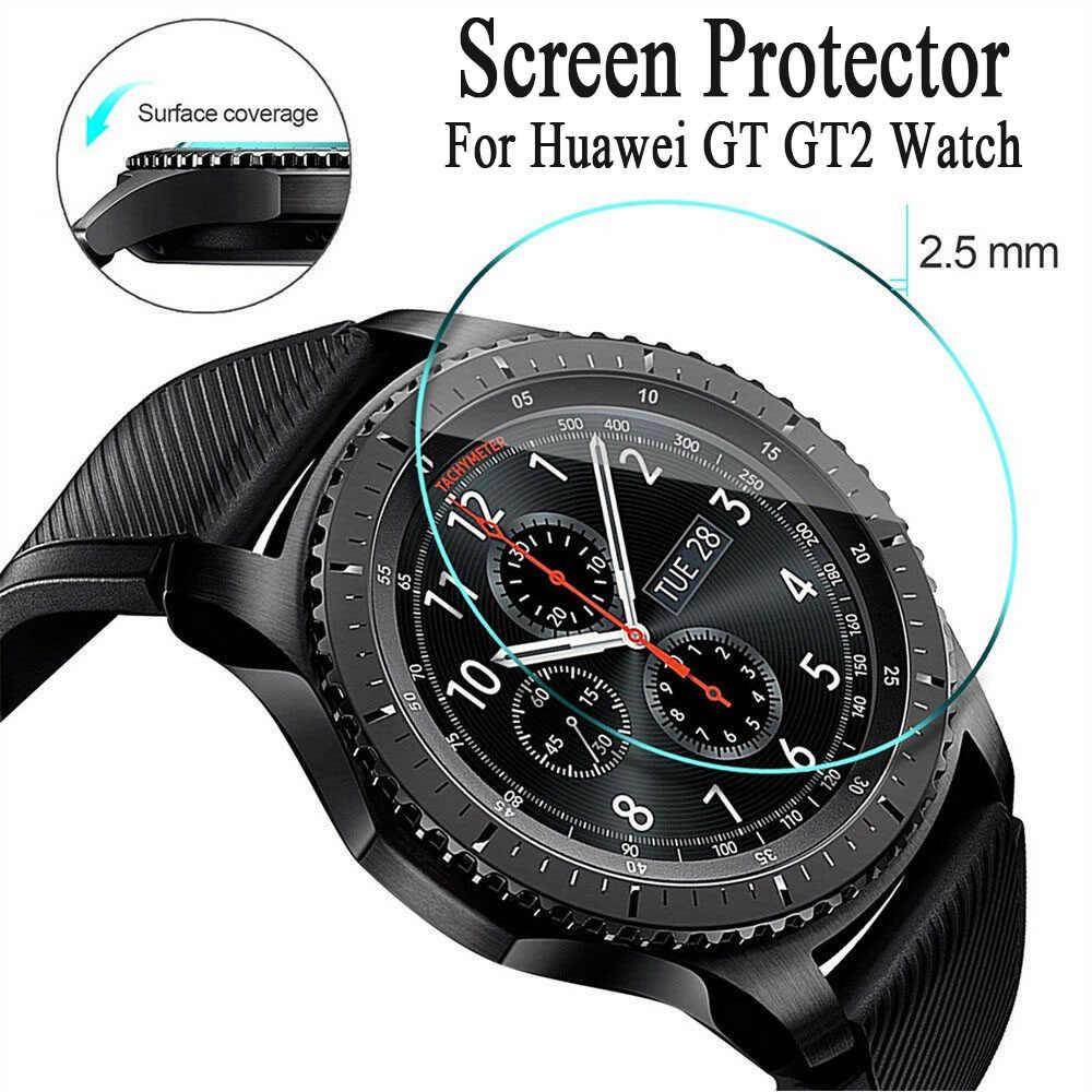 1PC ใหม่ CLEAR HD กระจกนิรภัยป้องกันหน้าจอฟิล์ม Anti-Scratch สำหรับ Huawei GT GT2 สมาร์ทนาฬิกาอุปกรณ์เสริม