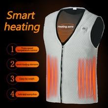 7領域加熱されたベスト男性電熱ベスト熱暖かい暖房服屋外釣り狩猟ベスト冬のusb加熱されたジャケット