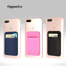 Removable Stick-on Universal Case Slim Pocket Credit Mini Pouch Card Holder Adhesive Wallet Phone Back Cover For iPhone Samsung