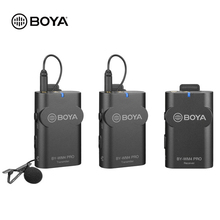 BOYA BY-WM4 Pro Professional Wireless Condenser Microphone System Lavalier Video Mic for Camera DV Smartphone Live Streaming