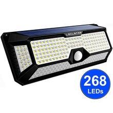 268 светодиодный уличный фонарь на солнечной батарее для дома