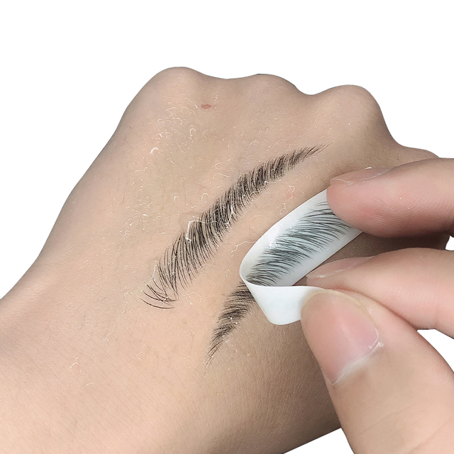 Magic 4D Hair-like Eyebrow Tattoo Sticker False Eyebrows 7 Day Long Lasting Super Waterproof Makeup Eye Brow Stickers Cosmetics 1