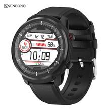 SENBONO Full Touchสมาร์ทนาฬิกาผู้ชายผู้หญิงธุรกิจกีฬานาฬิกาHeart Rate Monitorพยากรณ์อากาศSmartwatchสำหรับIOS Android