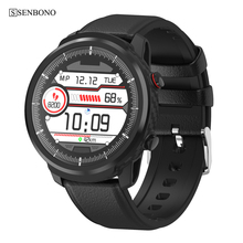 SENBONO Full Touch Smart Watch Men Women Business Sports Clock Heart Rate Monitor Forecast Smartwatch for IOS Android