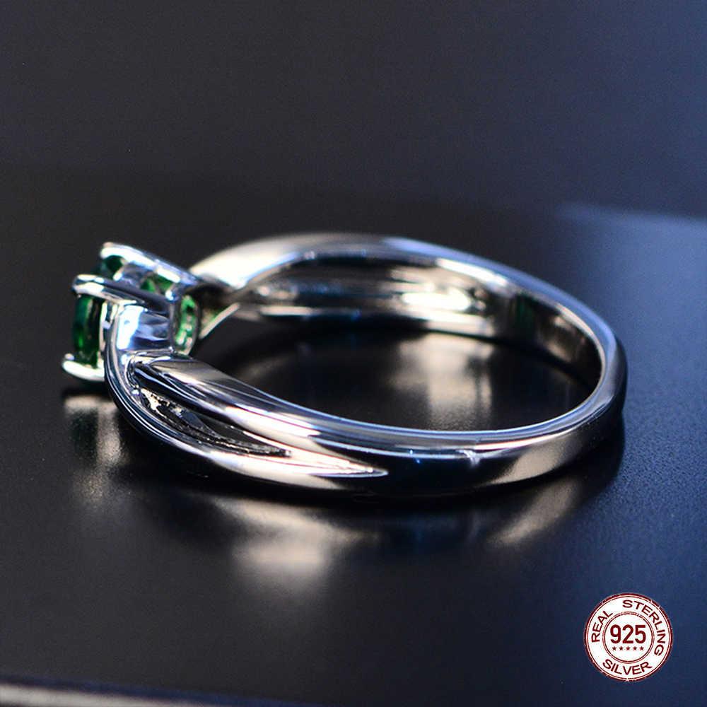 2019 изысканное модное обручальное Изумрудное кольцо из серебра 925 пробы Ювелирное кольцо с драгоценным камнем Аметист серебро Cocktail циркон кольцо с синим сапфиром
