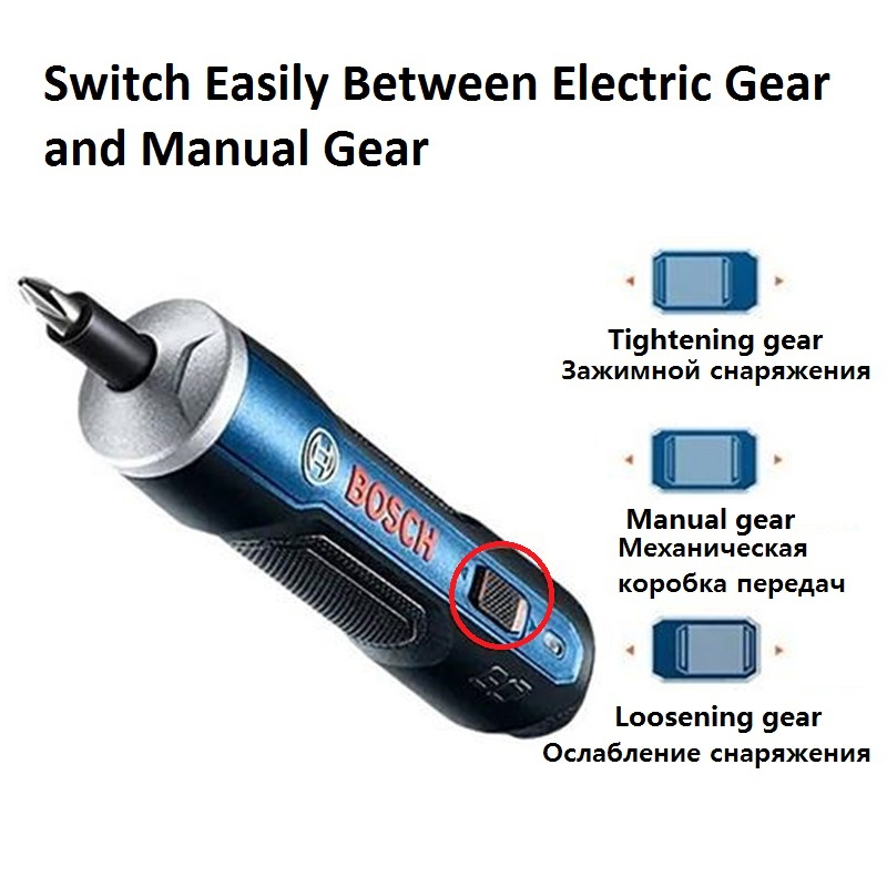 Image 2 - BOSCH GO Mini electrical screwdriver set hand 3.6V lithium ion Battery Rechargeable Cordless Power Drill Electrical screwdriver-in Electric Screwdrivers from Tools on