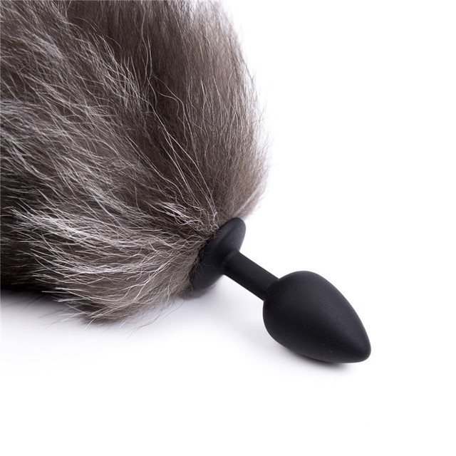 Fox Tail Anal Toys Plush Silica Gel Plug Sex Toys for Women Man Couple Gay BDSM Toy Cosplay Anal Tail Homosexual Animal Tail