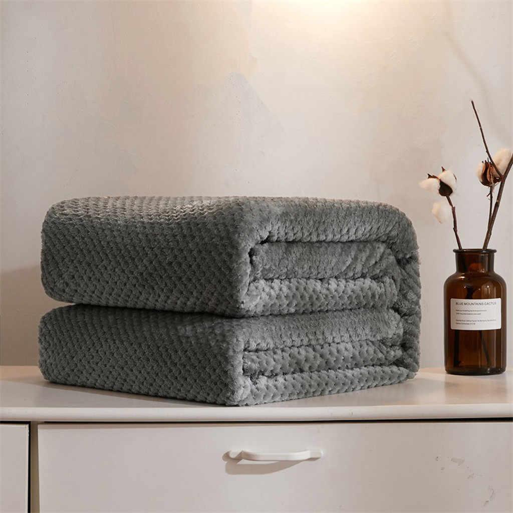 Cobertor de cama de lã de lã quente macio grande malha cobertores de flanela grosso respirável coral velo cobertor cama têxtil para casa colcha
