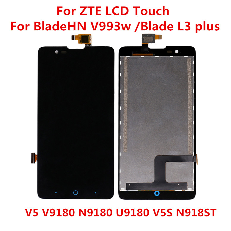 Test For ZTE Blade HN V993w / Blade L3 Plus / V5 V9180 N9180 U9180 V5S N918ST Full LCD DIsplay + Touch Screen Digitizer Assembly
