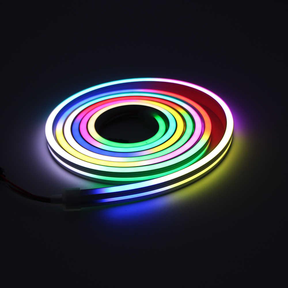 1m-100m bande DEL 220 V Neon Flex Tube lumineux étanche Flexible Lighting Outdoor