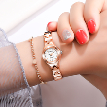 Rose Gold Luxury Stainless Steel Ladies Wristwatches
