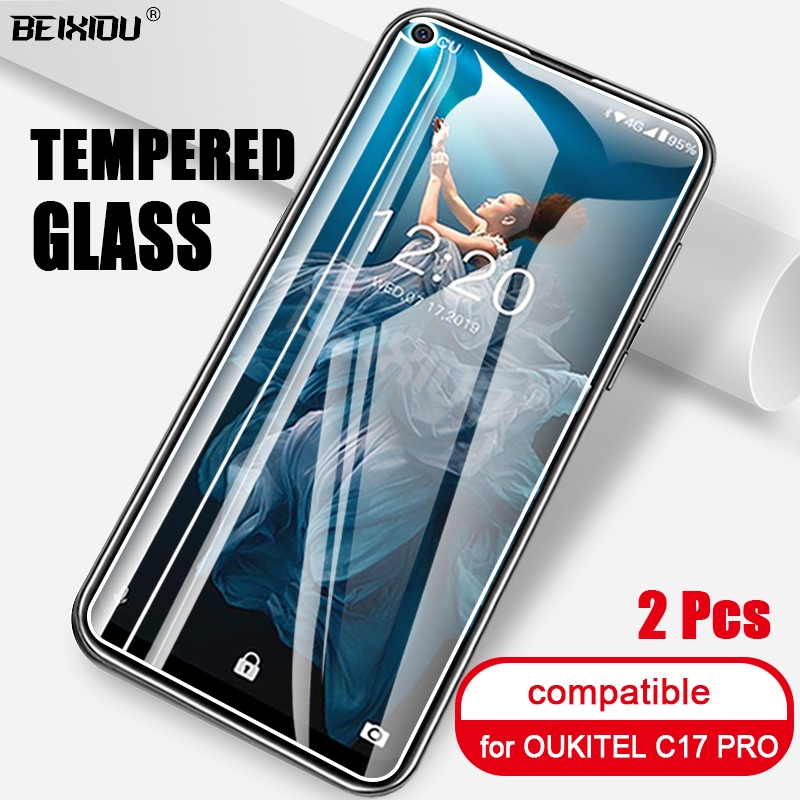 2 PCS Full Tempered Glass For OUKITEL C17 PRO Screen Protector 2.5D 9h Tempered Glass For OUKITEL C17 PRO Protective Film