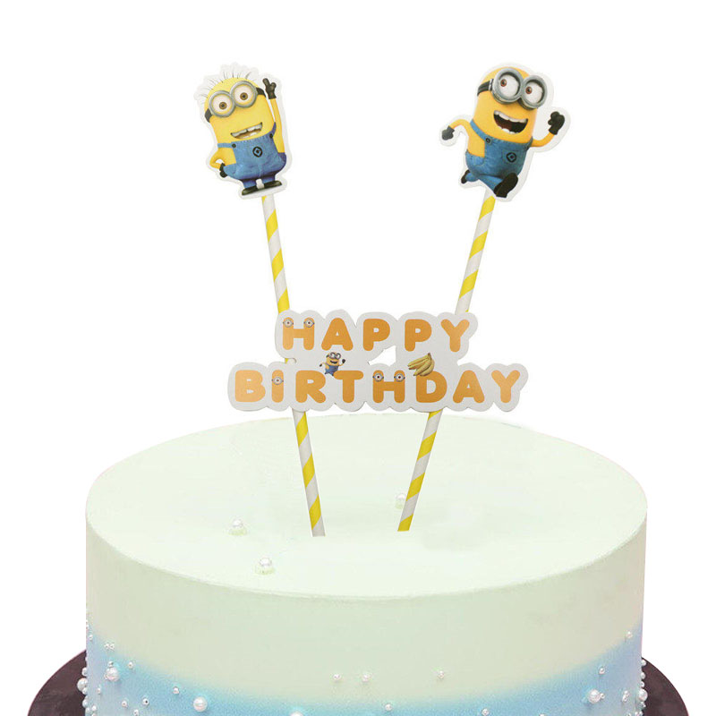 Groovy 1Set Cartoon Minions Cake Topper Baby Shower Kids Birthday Wedding Personalised Birthday Cards Cominlily Jamesorg