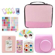 Seyahat depolama paketi fotoğraf çantası kozmetik taşıma çantası/fotoğraf albümü/çıkartmalar/Lens Fujifilm Instax Mini 9 8 7s aksesuarları
