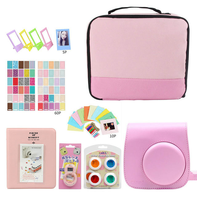 Travel Storage Package Photography Bag Cosmetic Carry Bag/Photo Album/Stickers/Lens for Fujifilm Instax Mini 9 8 7s Accessories