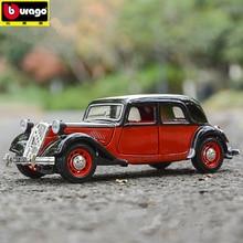 купить Bburago 1:24 1938 Citroen 15 CV alloy car model simulation car decoration collection gift toy дешево