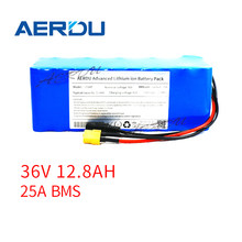 AERDU 36V 10S4P 12.8Ah 3200mAh Cells 18650 13ah 12ah with 25A BMS 42V Lithium Battery Pack Ebike Electric Bicycle Motor Scooter