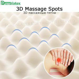 Image 5 - PurenLatex 60x38 Thailand Pure Natural Latex Orthopedic Pillow Neck Cervical Protective Spine Massage Remedial Body Pillows