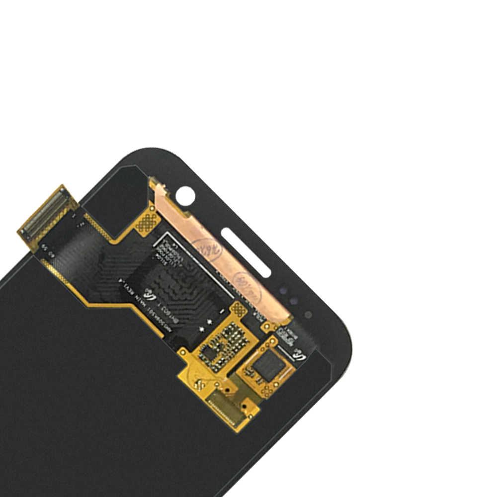 10 قطعة شاشات Lcd لسامسونج غالاكسي S7 G930A G930F SM-G930F سوبر AMOLED شاشة الكريستال السائل 100% اختبار اللمس شاشة الجمعية ملصقا