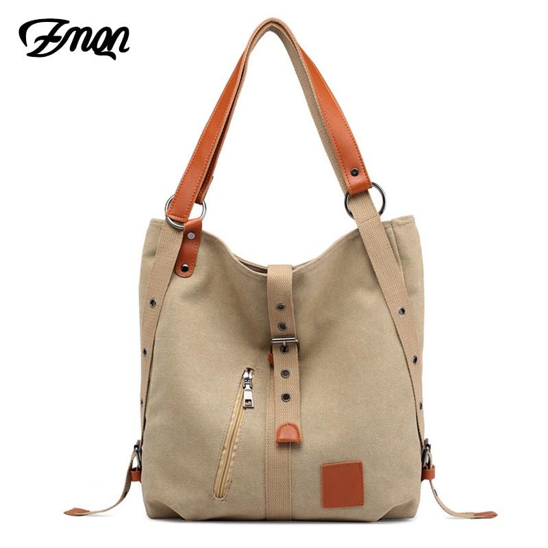 ZMQN Bolsa Feminina Women Bag Canvas Handbag For Women's 2020 Multifunction Female Casual Tote Bag Famous Brand Light Sac A872