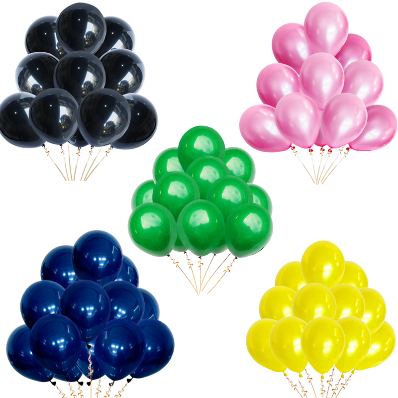 Image 4 - 30pcs 12inch Gold Silver Black Metal Latex Balloons Wedding Decorations Matte Helium Globos Birthday Party Decoration Adult-in Ballons & Accessories from Home & Garden