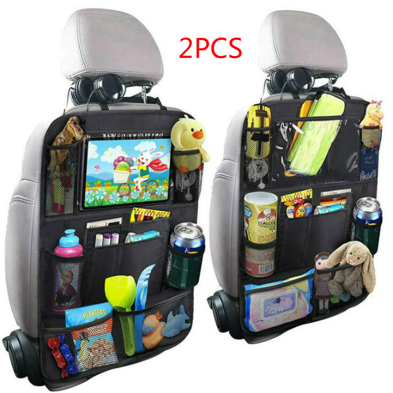 Fashion Convenient Car Seat Back Organizer Multi-Pocket Storage Bag Box Case Car Storage Bag Tablet Holder Storage Organizer