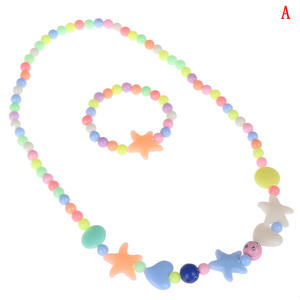 Jewelry-Set Christmas-Gift Girls Kids Children Bracelet Acrylic Necklace Petals Beads