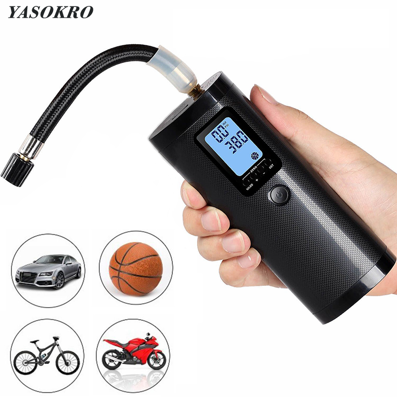 Portable Bike Electric Air Inflator 12V 150PSI Car Air Compressor Bicycle Air Pump Rechargeable Tire Pump Car Tyre Inflatable