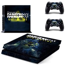 Rainbow Six Quarantine PS4 Skin Sticker Decal For DualShock PlayStation 4 Console and 2 Controllers PS4 Skin Sticker Vinyl