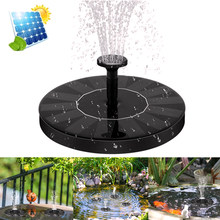 Fonte solar bomba 1.4w círculo jardim bomba de água solar alimentado a energia solar bomba de água flutuante fonte para birdbaths ou lagoas
