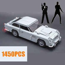 NEW Technic Expert James Bond fit technic City Creator Building Blocks Bricks DB5 Model kid diy toys for children Gift birthday