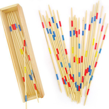 Traditional Mikado Spiel Pick Up Sticks With Box Game Spillikin Game Multiplayer Game Baby Educational Wooden Game 30Pcs image