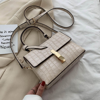 Small PU Leather Stone Pattern Crossbody Bags For Women 2020 Fashion Lady Shoulder Handbag Female Design Travel Totes