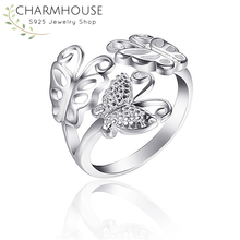 New Arrival Pure 925 Silver Rings For Women Wide Flower Ring Adjustable Bague Femme Wedding Band Bridal Korea Style Jewelry