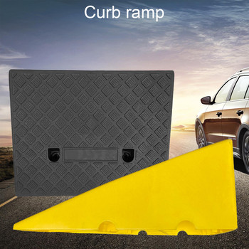Portable Lightweight Curb Ramps Heavy Duty Plastic Threshold Ramp Mat Pad Car Trailer Truck Bike Motorcycle Wheelchair Curb Ramp image