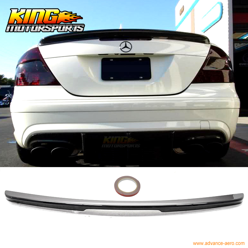 Fit For 03-08 Benz CLK-Class <font><b>W209</b></font> 2Dr Coupe AMG Style Trunk <font><b>Spoiler</b></font> Painted Match Black #040 ABS image
