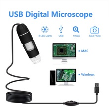 Protable Smart Microscope  Pixels 500X 1000X 8 LED Digital USB Microscope Magnifier Electronic Stereo USB Endoscope Camera free shipping 5m pixels 3 5 lcd display handheld digital microscope 1 500x 8 led avi output support micro sd card