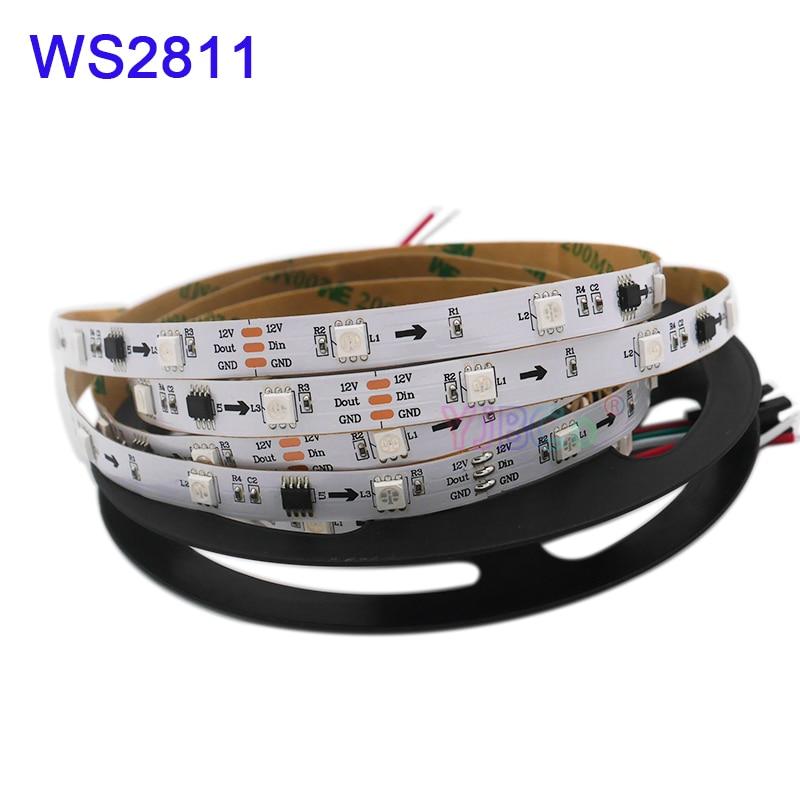 1m/2m/3m/4m/5m WS2811 Smart Pixel Led Strip Tape;DC12V 30/60leds/m Full Color Addressable WS2811 IC RGB Led Strip Light