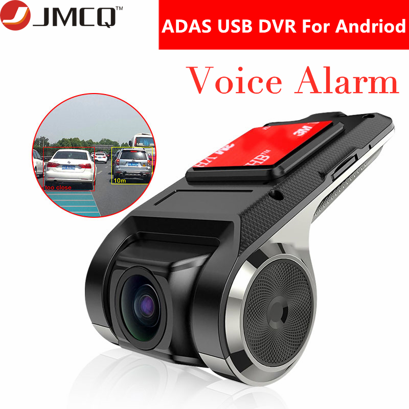 USB ADAS Car DVR Dash Cam Full HD 1080P For Car DVD Android Player Navigation Floating Window Display Voice Alarm LDWS G-Shock