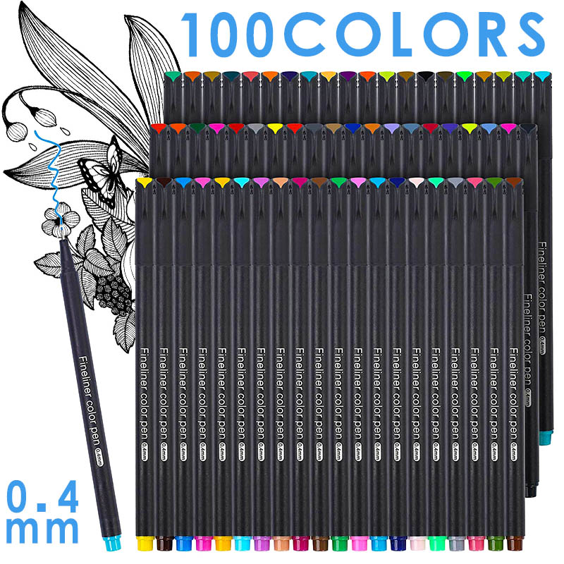 12/24/36/48/60/100pcs Colorful Neutral Marker Pen Fineliner Pens For School Office Pen Set Kawaii Ink Pen Art Supplies Cute