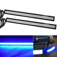 цена на LAUTO 2PCS Daytime Running lights Led COB Fog Lamp Universal Waterproof Car Styling Led Day light DRL Lamp For Auto 17cm