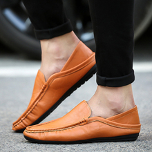 Mens Shoes Casual Loafers Spring Autumn Men Genuine Leather
