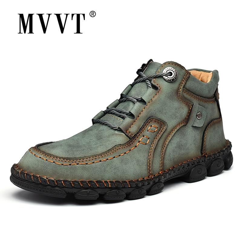 Plus Size Men Boots Winter Fashion Leather Boots Men Snow Boots Super Comfort Winter Shoes Men Ankle Boots Men Shoes Winter