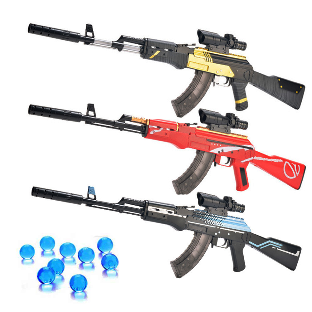 Assault Manual Rifle AKM Toy Gun AK 47 Water Bullet Shooting Boys Outdoor Toys Air Soft Sniper Arms Weapon Airsoft Air Guns Gift