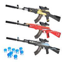 Szturmowy ręczny karabin AKM pistolet zabawkowy AK 47 woda kula strzelanie chłopcy zabawki na zewnątrz powietrze miękkie broń snajperska broń Airsoft wiatrówki prezent
