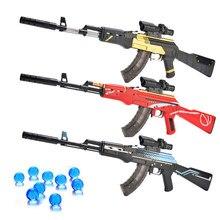 Arma de juguete arma del AirSoft Manual Rifle AK 47 juguete pistola de agua bala a niños al aire libre juguetes CS juego francotirador arma regalos para los niños
