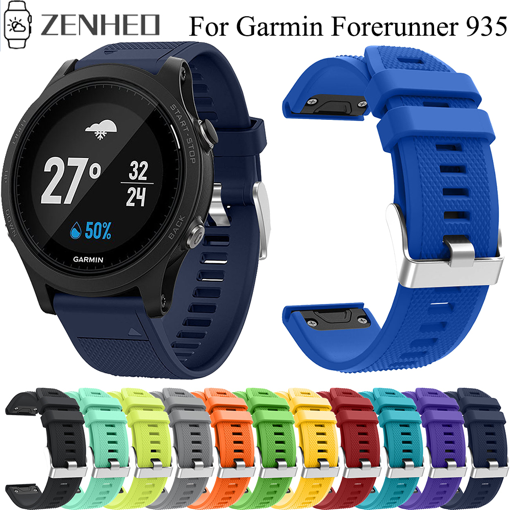 Replacement 22mm Watchband For Garmin Forerunner 935 Quick Release Silicone Strap For Garmin Forerunner 945 Smart Watch Band